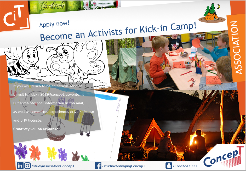 Become an activist for the Kick In Camp!