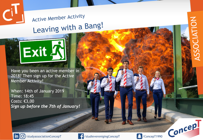 Active Member Activity: Leaving with a Bang!