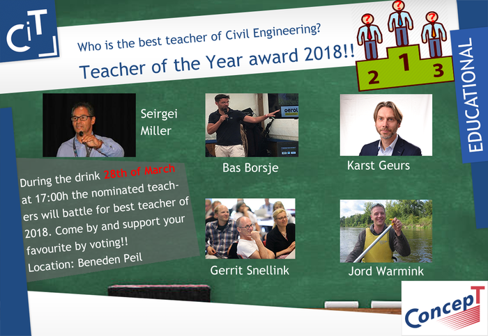 Vote for your CE Teacher of the Year (March 28th)